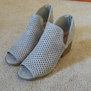 Qupid Gray Grey Booties size 9